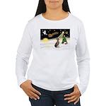 Night Flight/Weimaraner Women's Long Sleeve T-Shir