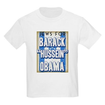 Jews For Barack Obama Kids Light T-Shirt