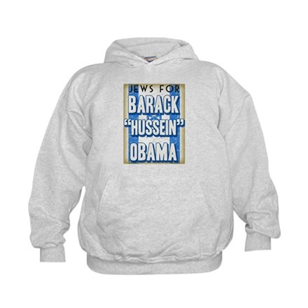 Jews For Barack Obama Kids Hoodie