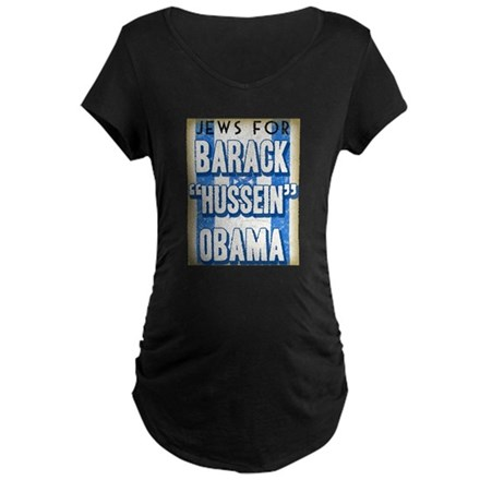 Jews For Barack Obama Maternity Dark T-Shirt