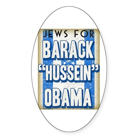 Jews For Barack Obama Oval Sticker