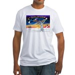 XmasSunrise/Irish Wolf #4 Fitted T-Shirt