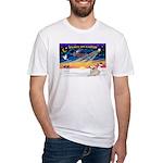 XmasSunrise/Pyrenees 1 Fitted T-Shirt