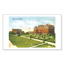 Boys'Town Nebraska NE Rectangle Sticker 50 pk)