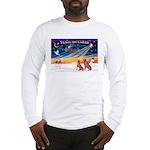 XmasSunrise/2 Weimaraners Long Sleeve T-Shirt
