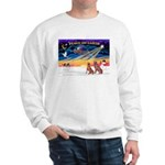 XmasSunrise/2 Weimaraners Sweatshirt