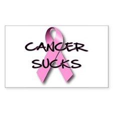 Cancer Sucks Rectangle Decal