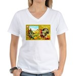 Thanksgiving Americana Women's V-Neck T-Shirt