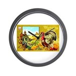 Thanksgiving Americana Wall Clock