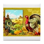 Thanksgiving Americana Tile Coaster