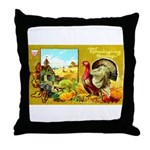 Thanksgiving Americana Throw Pillow