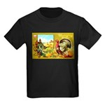 Thanksgiving Americana Kids Dark T-Shirt