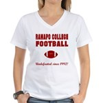Ramapo Football Women's V-Neck T-Shirt