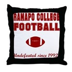 Ramapo Football Throw Pillow