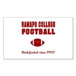Ramapo Football Rectangle Sticker 10 pk)