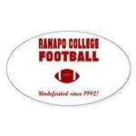 Ramapo Football Oval Sticker (50 pk)