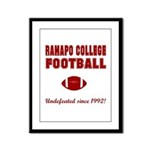 Ramapo Football Framed Panel Print