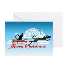 Christmas Pet Parade Greeting Card