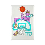SABRA DOG(Basketball)Jewish Rectangle Magnet (10 p