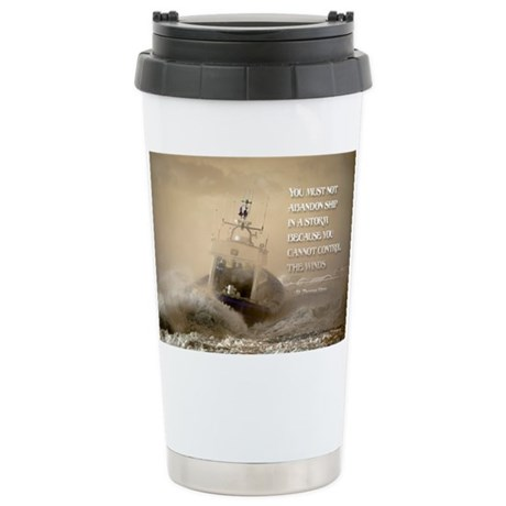 Inspirational Quote on a Ceramic Travel Mug