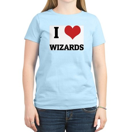 I Love Wizards Women's Pink T-Shirt