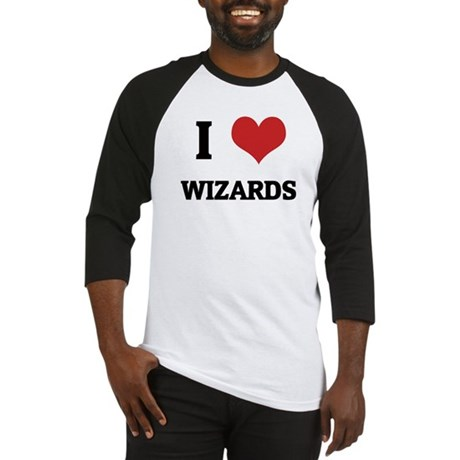 I Love Wizards Baseball Jersey