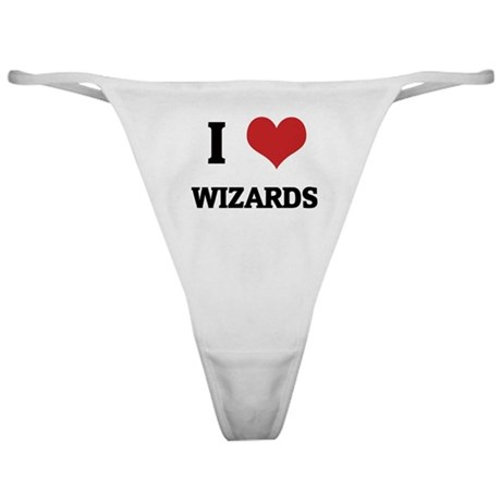 I Love Wizards Classic Thong
