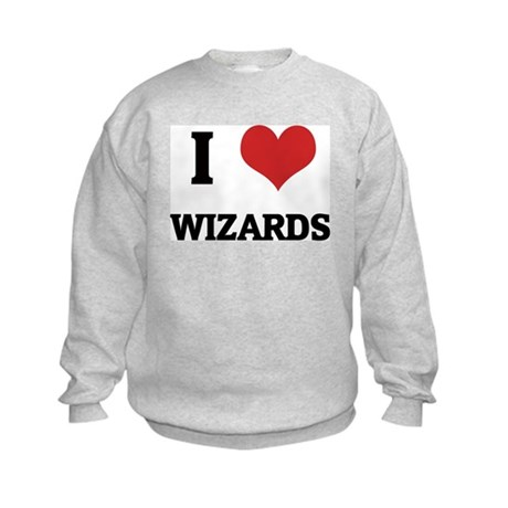 I Love Wizards Kids Sweatshirt