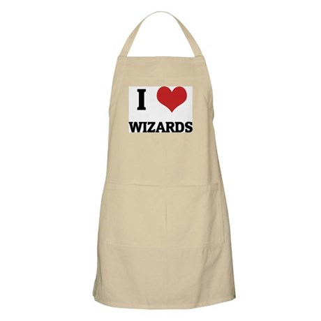 I Love Wizards BBQ Apron