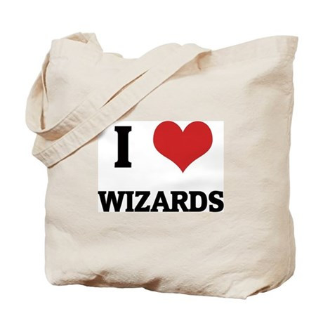 I Love Wizards Tote Bag