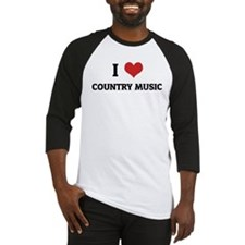 I Love Country Music Baseball Jersey