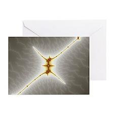 Mandelbrot fractal - StarX - Greeting Cards (Pk of