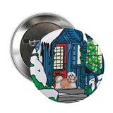 "Welcome Shih Tzu Christmas 2.25"" Button (100 pack)"