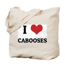 I Love Cabooses Tote Bag