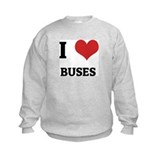 I Love Buses Sweatshirt