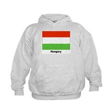 Hungary Hungarian Flag (Front) Hoodie