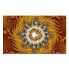 Mandelbrot fractal - Fur - Rectangle Sticker 10 p