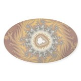 Mandelbrot fractal - Fur - Oval Sticker (10 pk)