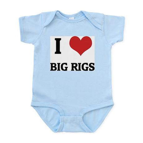 I Love Big Rigs Infant Creeper