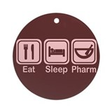 Eat, Sleep, Pharm 2 Ornament (Round)