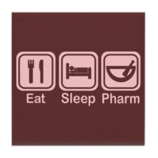 Eat, Sleep, Pharm 2 Tile Coaster