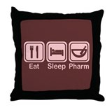 Eat, Sleep, Pharm 2 Throw Pillow