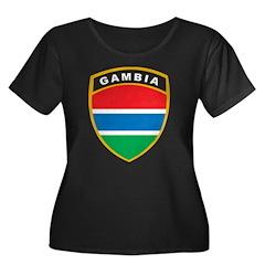 Gambia Women's Plus Size Scoop Neck Dark T-Shirt
