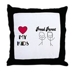 LOVE MY KIDS (PROUD PARENTS) Throw Pillow