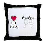 LOVE MY KIDS (PROUD PARENTS) Throw Pillow