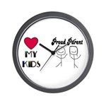LOVE MY KIDS (PROUD PARENTS) Wall Clock