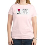 LOVE MY KIDS (PROUD PARENTS) Women's Pink T-Shirt