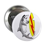 "Surfing Shark 2.25"" Button"