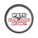"""Math...Cool Kids"" Wall Clock"