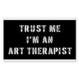 Art Therapist Gift Rectangle Decal